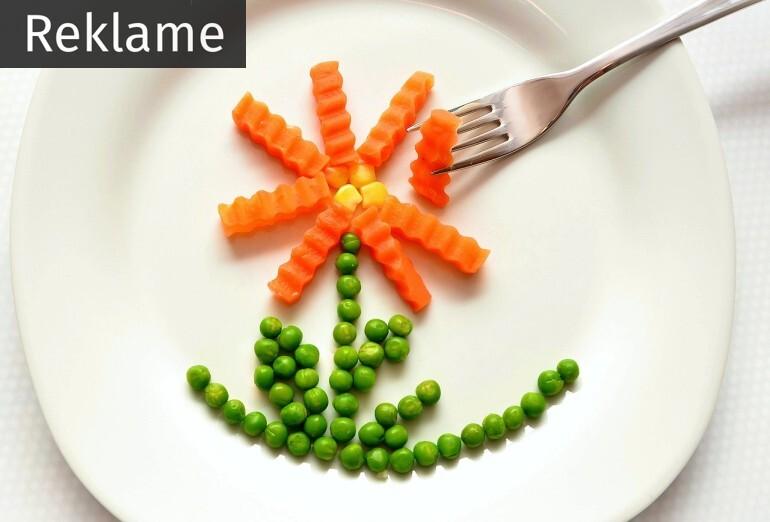 Grønsager på en tallerken